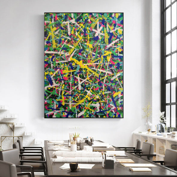 Abstract art paintings | Vertical oil painting | Decorative abstract paintings L771-5