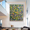 Abstract art paintings | Vertical oil painting | Decorative abstract paintings L771-2