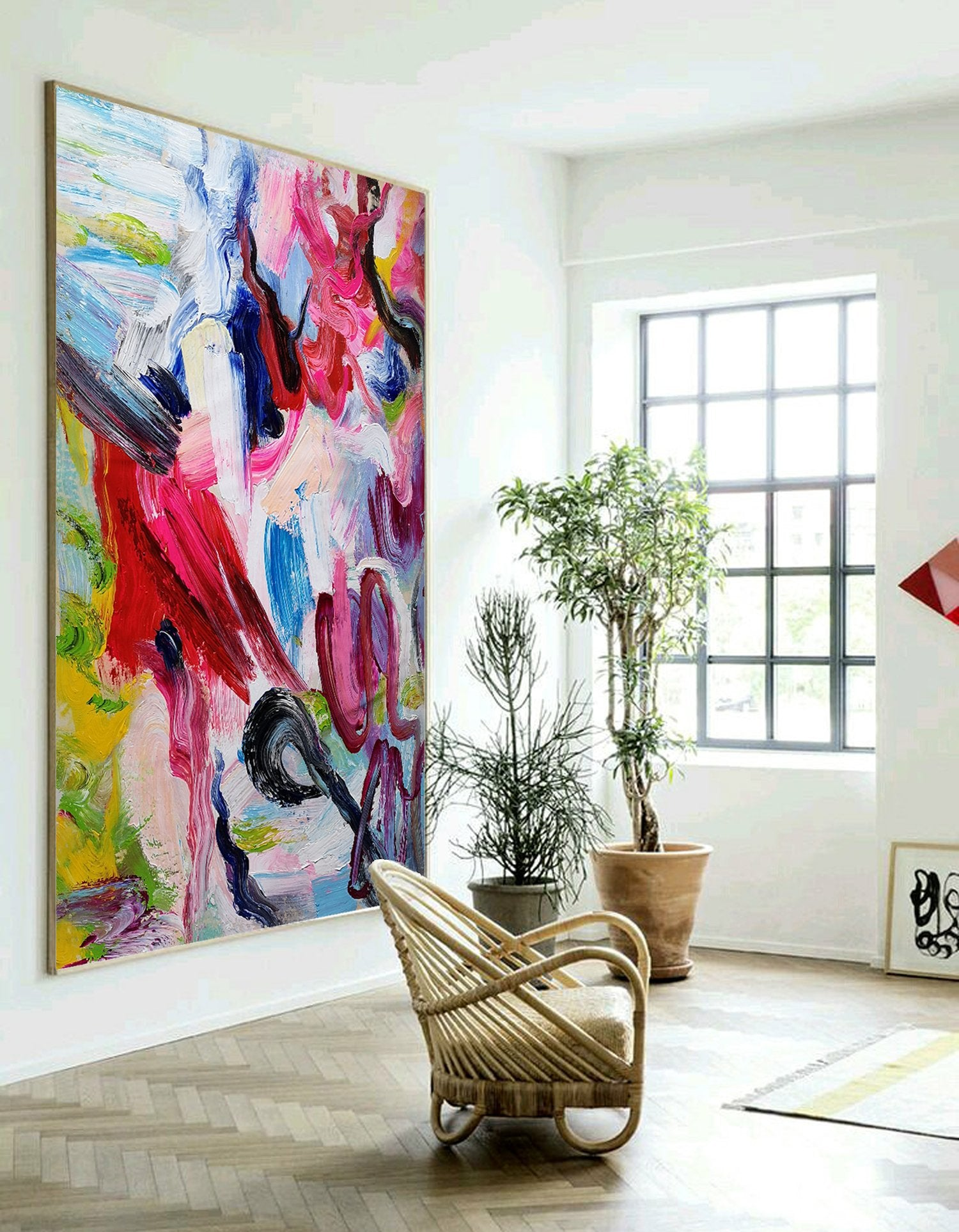 Canvas painting  Extra large wall art  Big canvas art L14