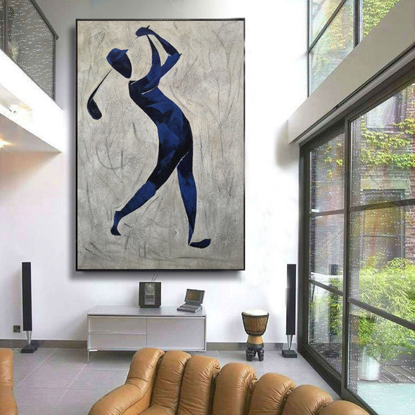 Henri Matisse style painting | Figurative art | Golf oil painting L669-5