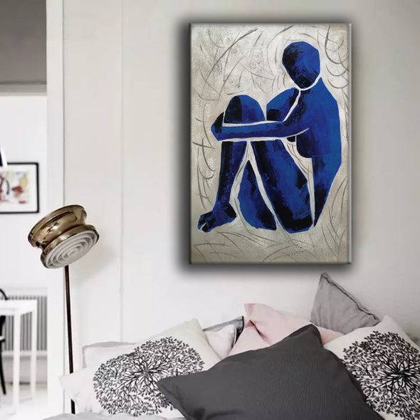 Oversize blue painting L689-3