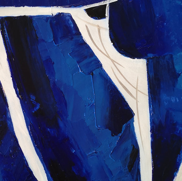 Oversize blue painting L689-9