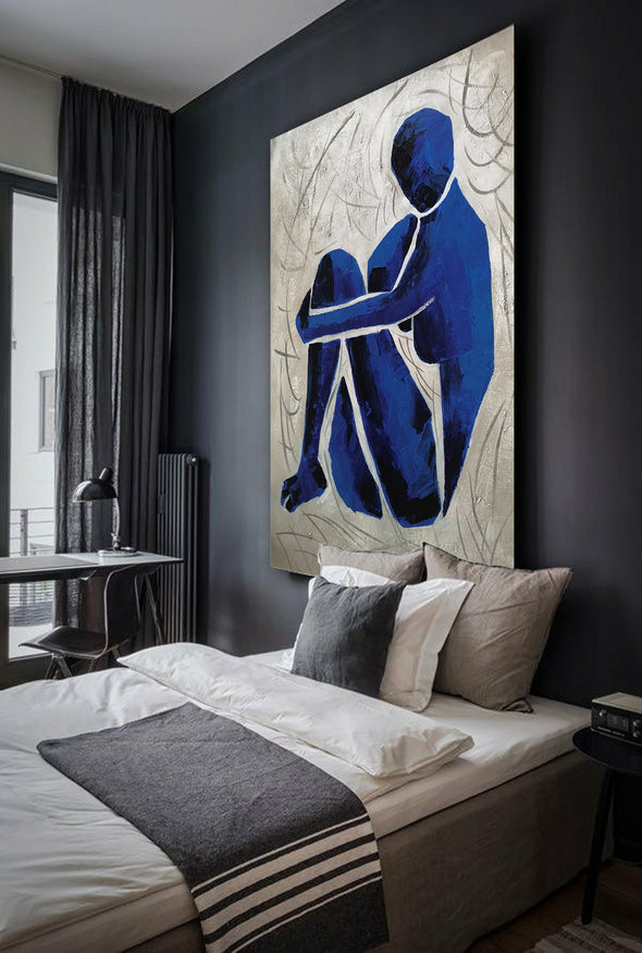 Oversize blue painting L689-6