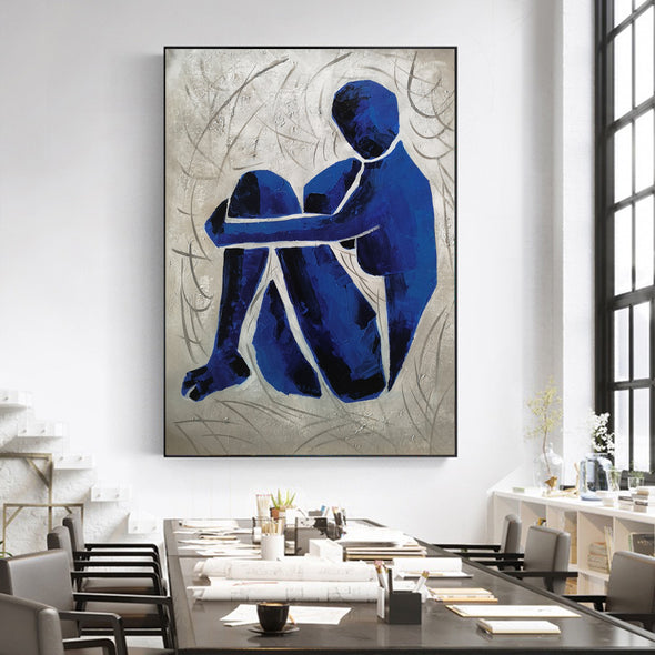Oversize blue painting L689-5