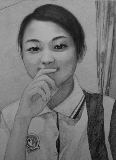 Professional hand crafted portraits Charcoal Pencil portrait