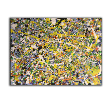 Jackson pollock reproduction | Pollock action painting | Abstract art dripping paint L739-1