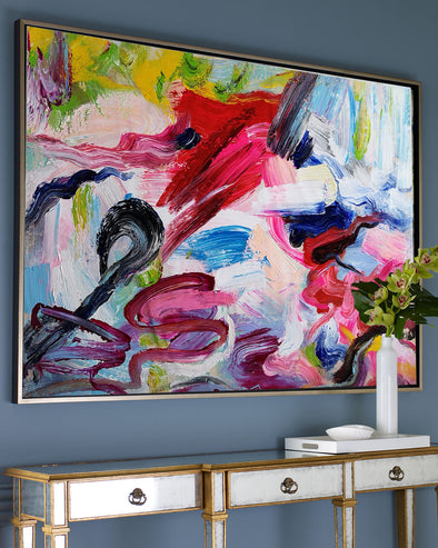 Large abstract art | Wall art painting | LargeArtCanvas L641-1