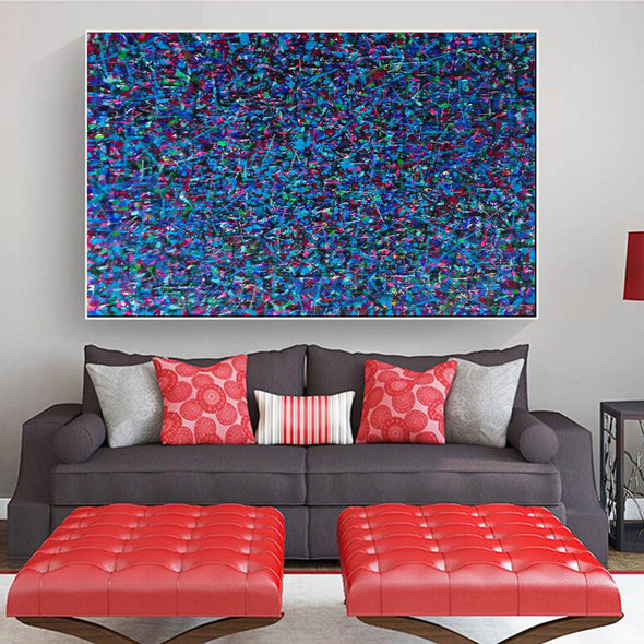 Large canvas art for living room | Oversized oil painting | Original abstract art paintings L738-6