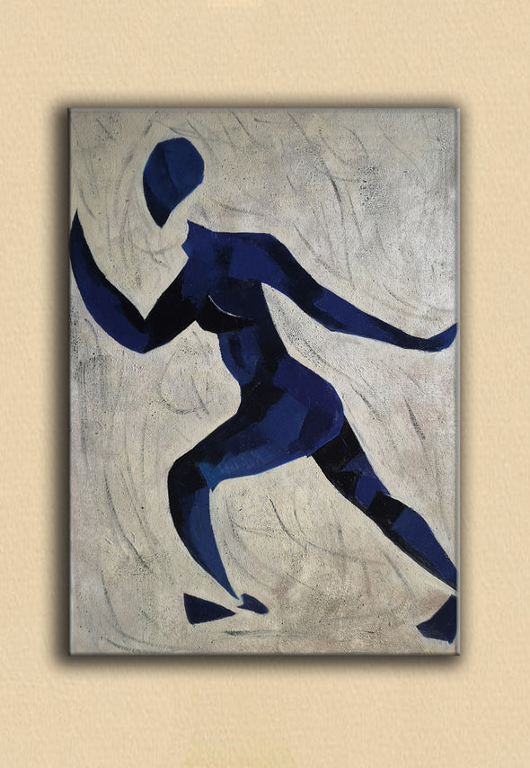 Runner oil painting | Running oil painting | Matisse style painting  L670-3