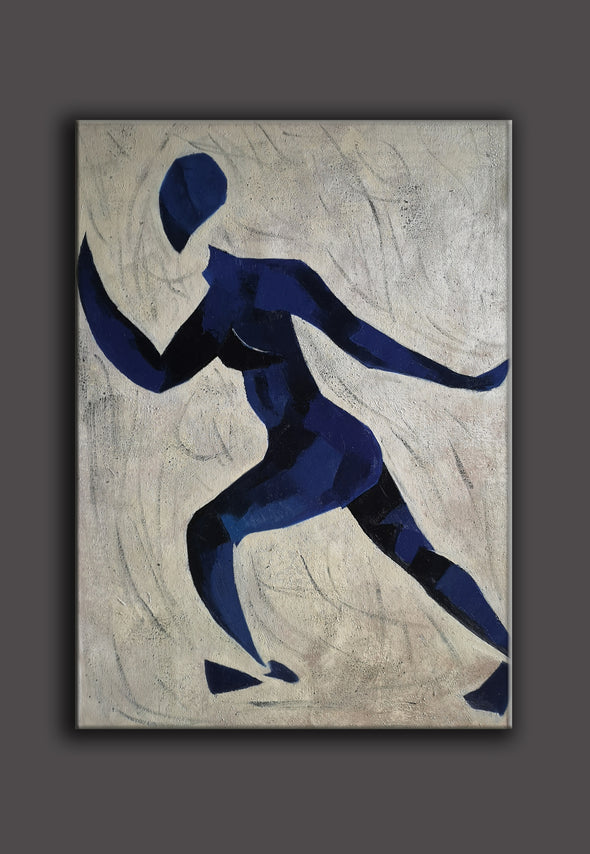 Runner oil painting | Running oil painting | Matisse style painting  L670-2