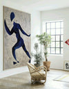 Runner oil painting | Running oil painting | Matisse style painting  L670-4