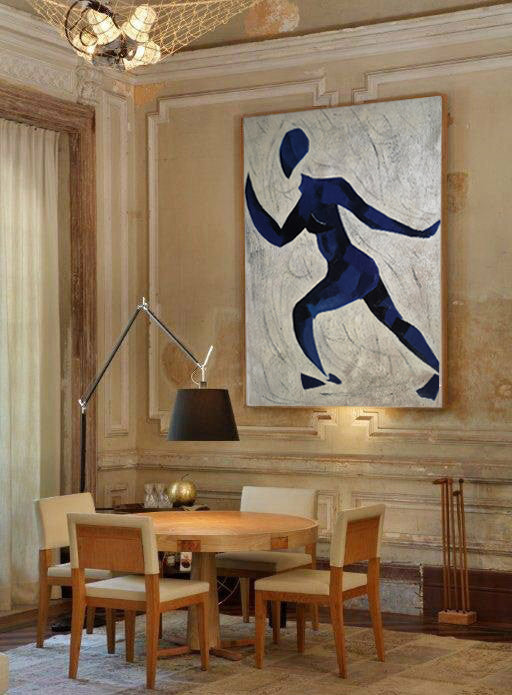 Runner oil painting | Running oil painting | Matisse style painting  L670-1