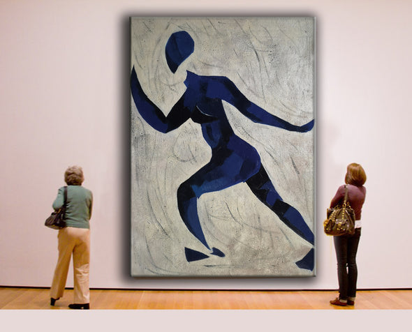 Runner oil painting | Running oil painting | Matisse style painting  L670-6