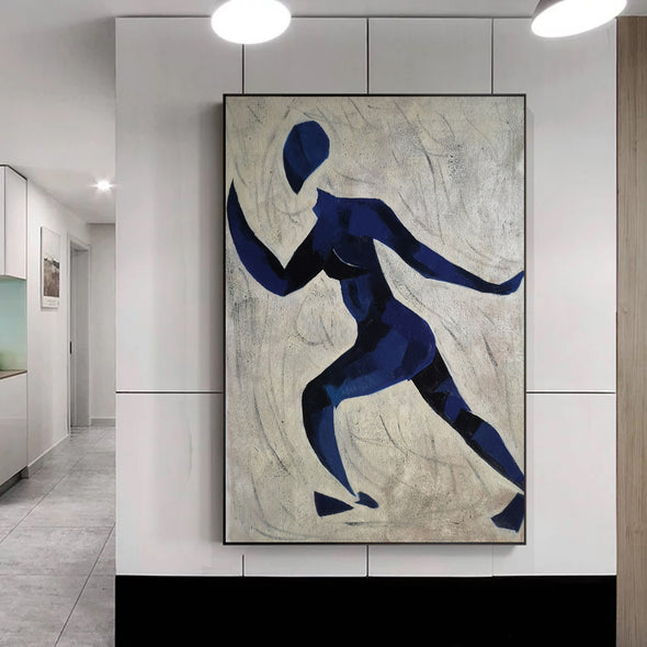 Runner oil painting | Running oil painting | Matisse style painting  L670-7