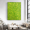 Yellow green abstract painting | Yellow and green abstract | Large Yellow painting L736-7