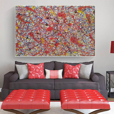 Paint like splatter painting | Drip paint canvas L911-1