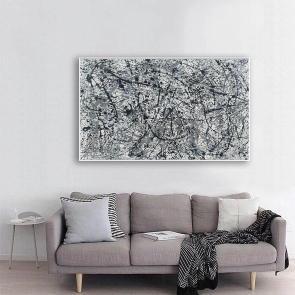 splatter painting canvas | Original drip L765-1