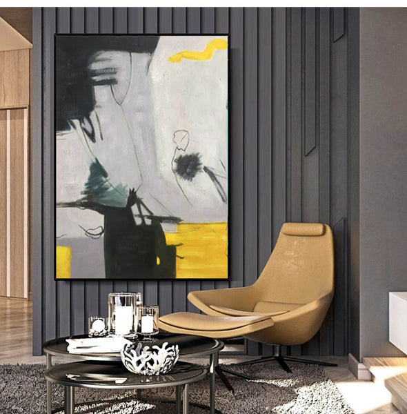 Abstract art colorful | Large abstract paintings on canvas LA168_4