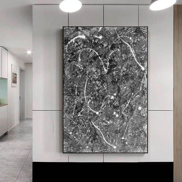 Abstract art dripping paint | Jackson pollock complete works L880-1