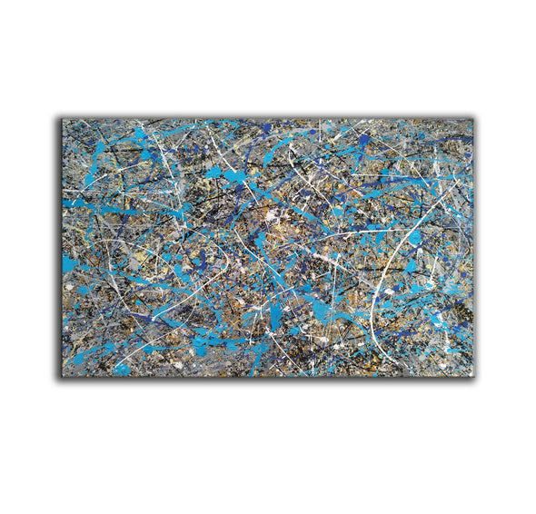 splatter painting gallery | splatter painting reproduction L941-3