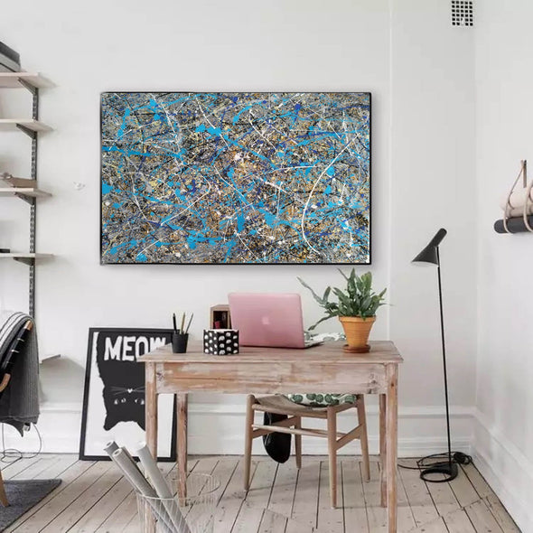 splatter painting gallery | splatter painting reproduction L941-2