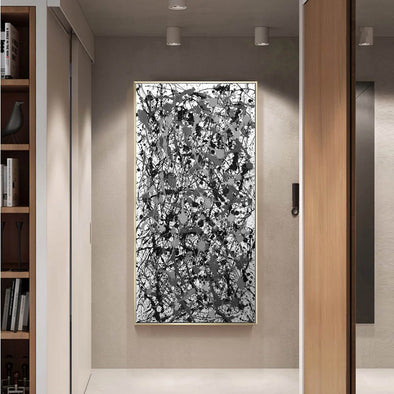 Jackson pollock painting in the accountant | Pollock action painting L746-1