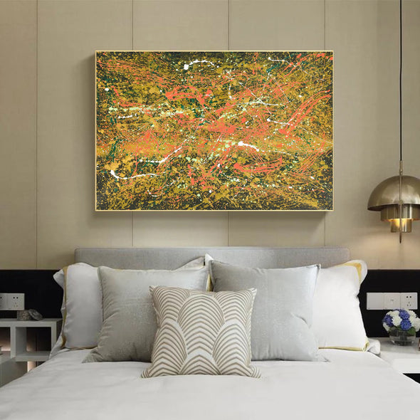 Abstract canvas oil painting | Abstract modern paintings on canvas LA247_1