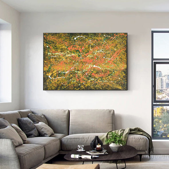 Abstract canvas oil painting | Abstract modern paintings on canvas LA247_2