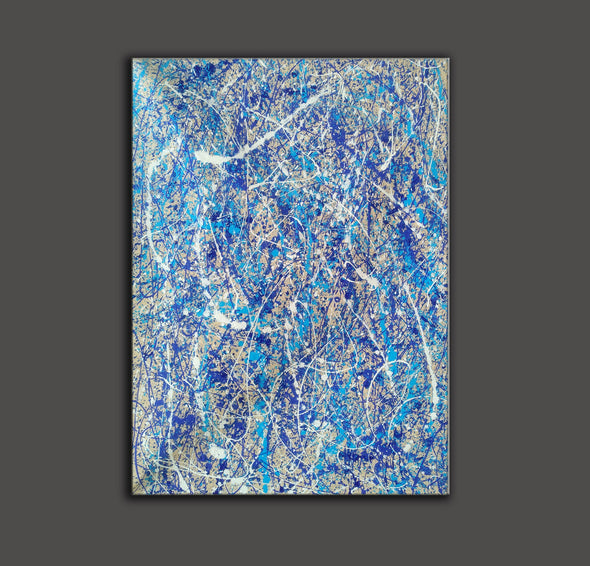 Pollock splatter paint | Pouring paint on canvas L924-2
