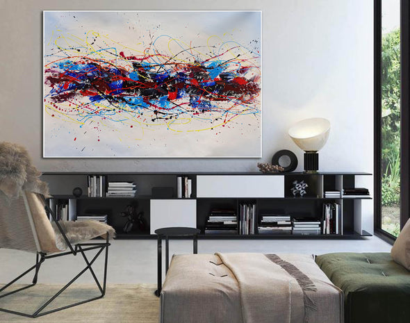 Abstract oil art paintings | Abstract modern art paintings LA265_1