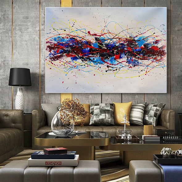 Abstract oil art paintings | Abstract modern art paintings LA265_3