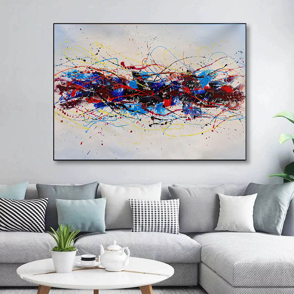 Abstract oil art paintings | Abstract modern art paintings LA265_4