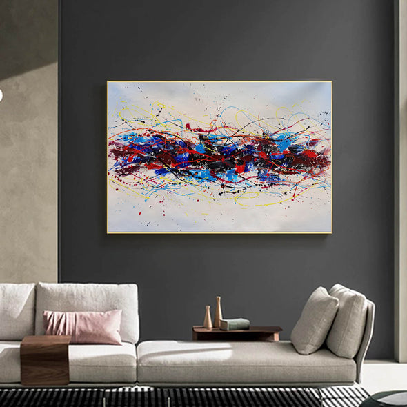 Abstract oil art paintings | Abstract modern art paintings LA265_7