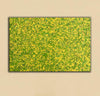 abstract original | yellow and green abstract painting | green abstract art L745-6