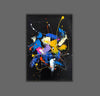 Abstract acrylic painting on canvas | Abstract portrait artists LA128_4