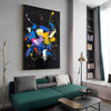 Abstract acrylic painting on canvas | Abstract portrait artists LA128_1