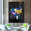 Abstract acrylic painting on canvas | Abstract portrait artists LA128_5