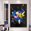 Abstract acrylic painting on canvas | Abstract portrait artists LA128_6