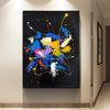 Abstract acrylic painting on canvas | Abstract portrait artists LA128_7