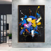 Abstract acrylic painting on canvas | Abstract portrait artists LA128_8