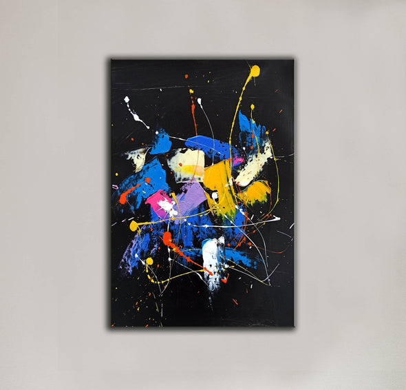 Abstract acrylic painting on canvas | Abstract portrait artists LA128_9