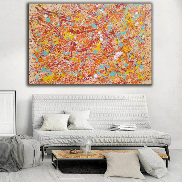 Original drip painting | splatter painting painting style L874-1