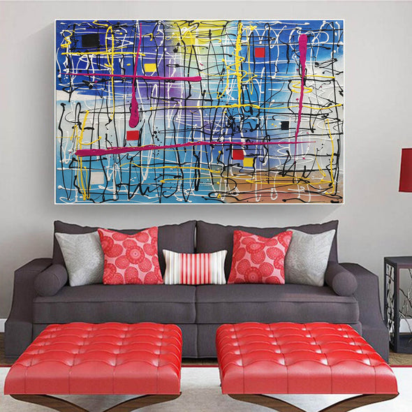 Beautiful abstract art | Large abstract canvas art LA29_1