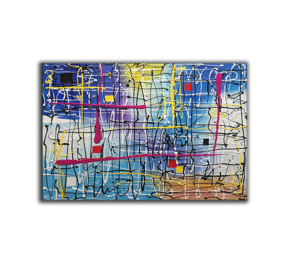 Beautiful abstract art | Large abstract canvas art LA29_4