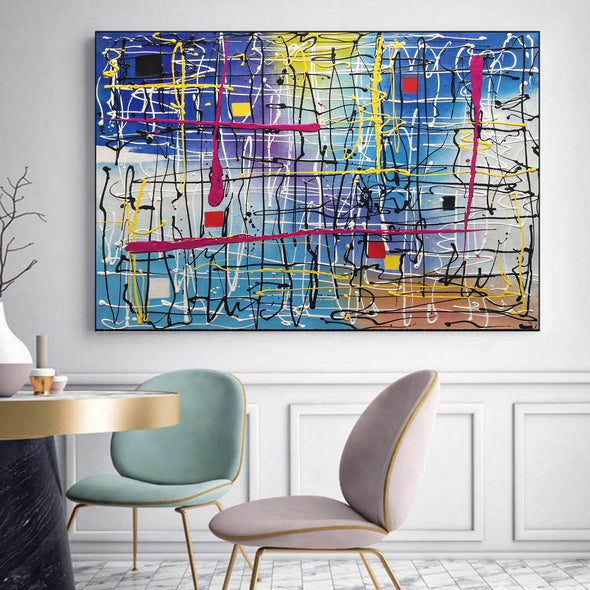 Beautiful abstract art | Large abstract canvas art LA29_3