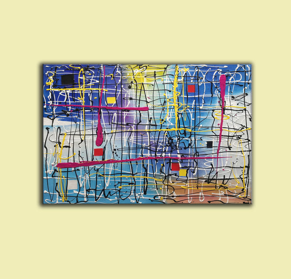 Beautiful abstract art | Large abstract canvas art LA29_5