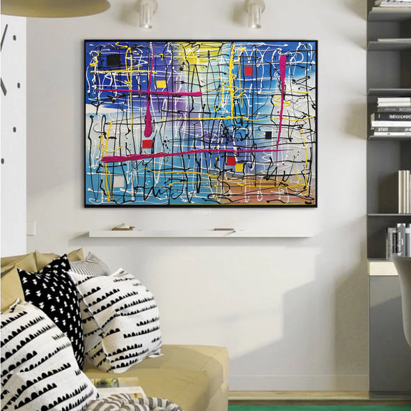 Beautiful abstract art | Large abstract canvas art LA29_6