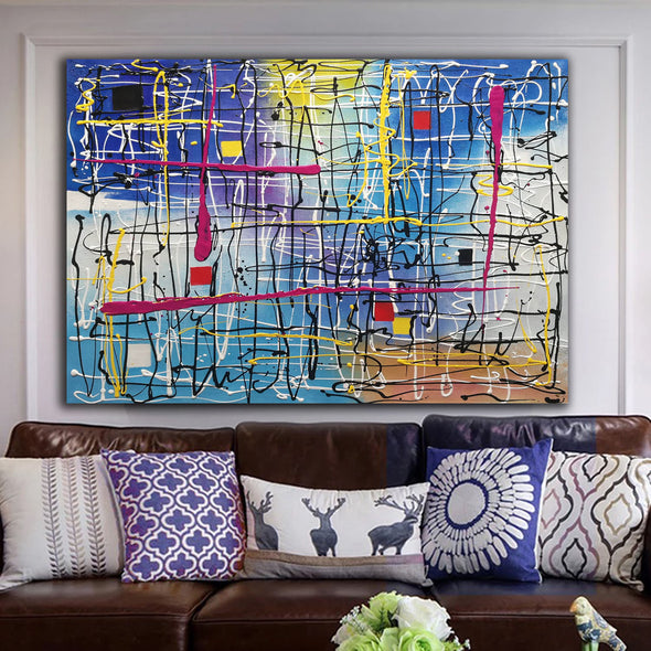 Beautiful abstract art | Large abstract canvas art LA29_7