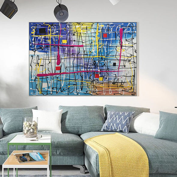 Beautiful abstract art | Large abstract canvas art LA29_2