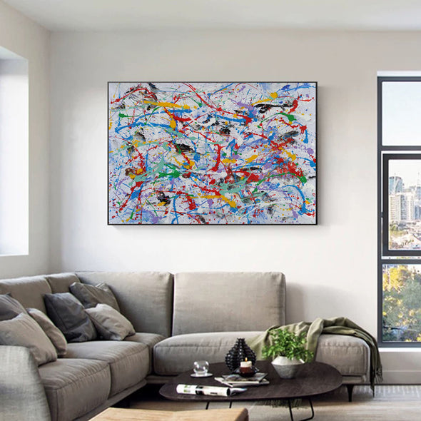 Abstract wall | Abstract painting for beginners LA69_1